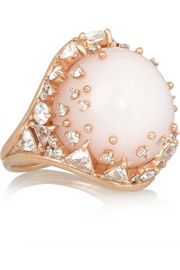 Fusion 18-karat rose gold multi-stone ring