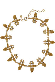 J.Crew Radiant gold-plated crystal necklace