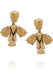J.Crew Crystal Ray gold-plated crystal earrings