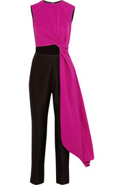 Roksanda Ilincic Cutout color-block crepe jumpsuit