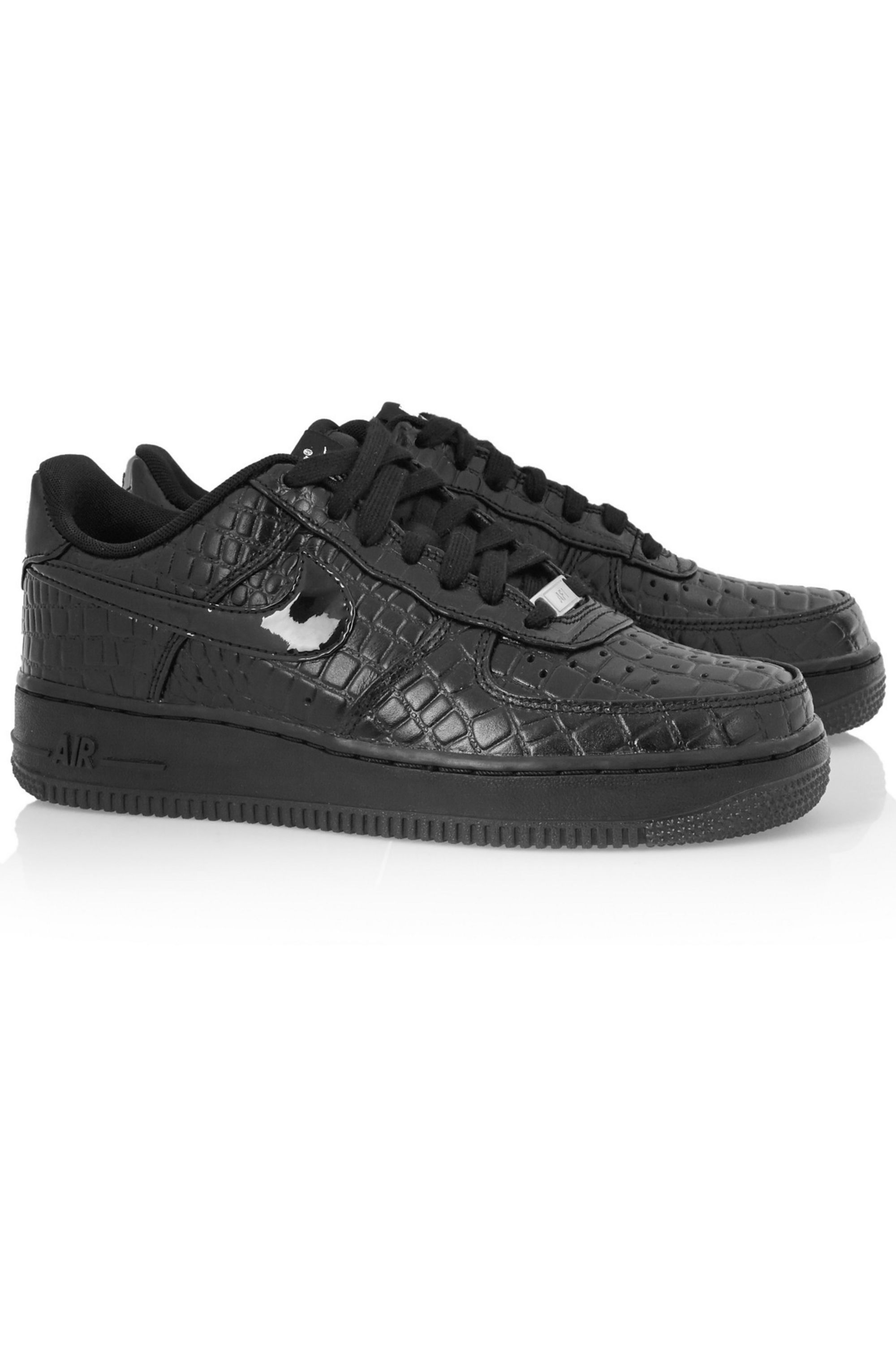 Nike Air Force 1 croc-effect leather sneakers