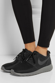 Nike Roshe Run Winter mesh and suede sneakers