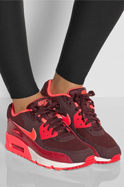 Nike Air Max 1 mesh and snake-effect leather sneakers