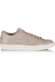 Nike Blazer snake-effect leather sneakers