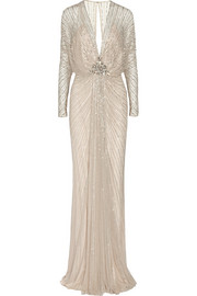 Jenny Packham Beaded tulle gown