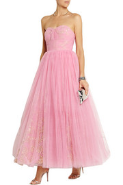 Ashish Strapless sequin-embellished tulle gown