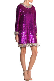 Ashish Embellished sequined mini dress