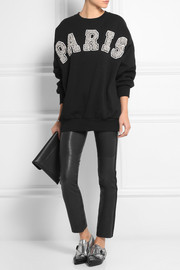 Ashish Paris embellished cotton-blend jersey sweatshirt