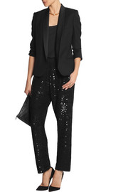 Ashish Sequined silk-georgette straight-leg pants