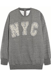 NYC embellished cotton-jersey sweatshirt