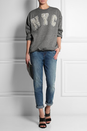 Ashish NYC embellished cotton-jersey sweatshirt