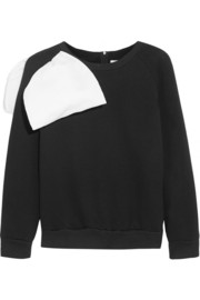 Ashish Bow-embellished cotton-blend jersey sweatshirt