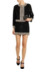 Ashish Embellished sequined mini skirt