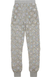 Ashish Embellished lace track pants
