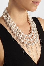 Tom Binns Ultra Pearl silver-plated Swarovski pearl necklace