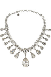 Tom Binns Madam Dumont rhodium-plated Swarovski crystal necklace