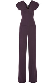 Verona stretch-crepe jumpsuit