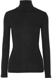 Splendid Supima cotton and modal-blend turtleneck top