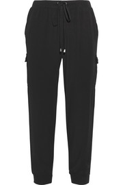 Splendid Washed-poplin track pants