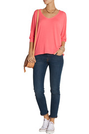 Splendid Draped stretch-jersey top