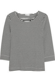 Belmont striped stretch-jersey top