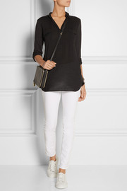 Splendid Voile-paneled Supima cotton and modal-blend jersey top