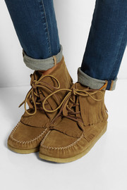 Finds + Eastland Aztec 1955 fringed suede ankle boots