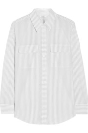 Equipment Signature pinstriped washed-cotton shirt