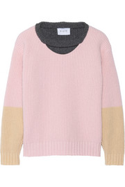 + Blake London Ardmore color-block wool and angora-blend sweater