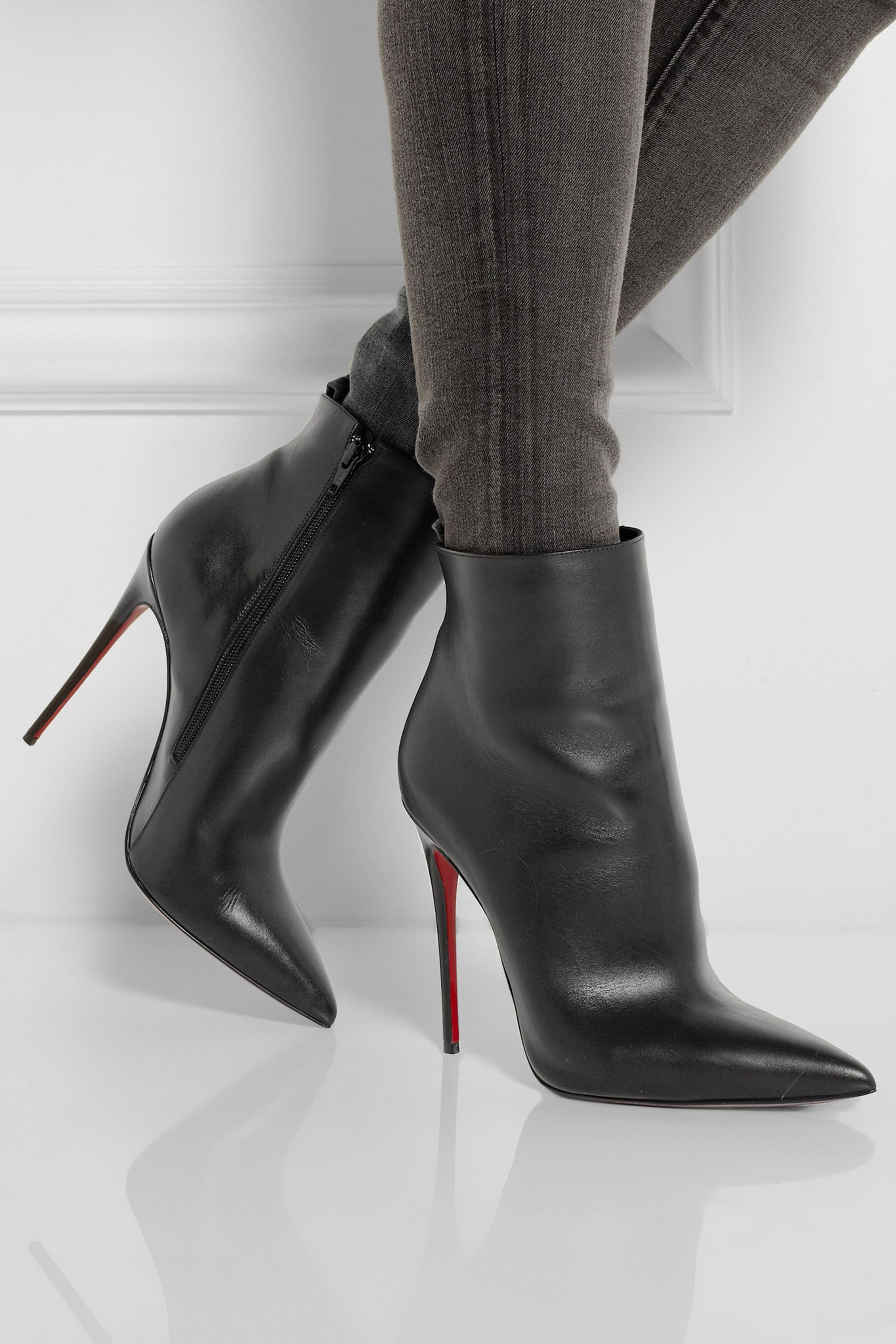Christian Louboutin So Kate 120 leather ankle boots