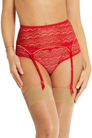 Mimi Holliday by Damaris Bisou Bisou Strawberry Split lace suspender belt