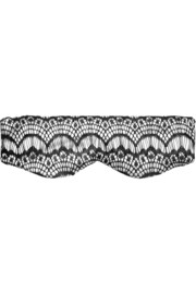 Bisou Bisou Cookies and Cream stretch-silk satin and lace eye mask