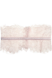 Mimi Holliday by Damaris Oyster Whippy satin-trimmed lace garter