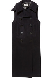 Double-breasted wool-blend vest