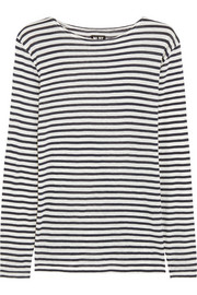 NLST Striped cotton and cashmere-blend top