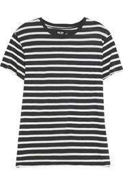 Striped cotton and cashmere-blend T-shirt