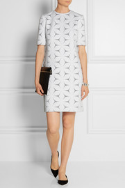 Victoria, Victoria Beckham Cotton-blend floral-jacquard dress