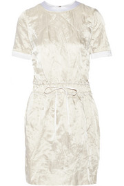 Victoria, Victoria Beckham Metallic crinkled-satin dress