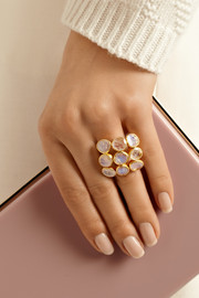 Pippa Small 18-karat gold rainbow moonstone ring