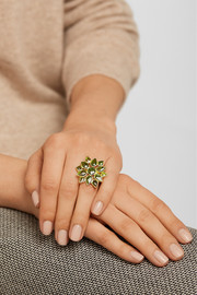 Pippa Small 18-karat gold tourmaline ring