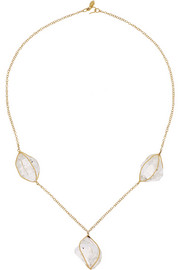 Pippa Small 18-karat gold Herkimer diamond necklace