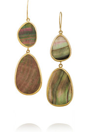 Pippa Small 18-karat gold oyster shell earrings