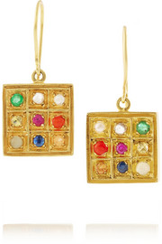 Pippa Small 18-karat gold multi-stone drop earrings