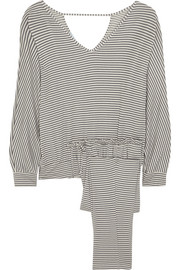 Eberjey Sadie striped stretch-jersey pajama set