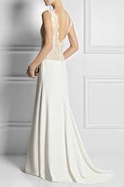 Rime Arodaky Dree lace and satin-twill gown