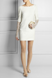 Rime Arodaky Miss Jagger lace-paneled crepe mini dress