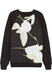 Altuzarra for Target Orchid-print georgette and cotton-blend sweatshirt