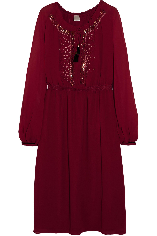 Altuzarra for Target Embroidered pleated georgette dress