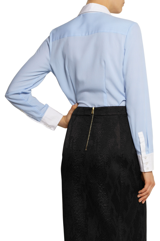 Altuzarra for Target Pinstriped crepe de chine shirt