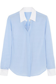 Altuzarra for Target Pinstriped crepe de chine shirt